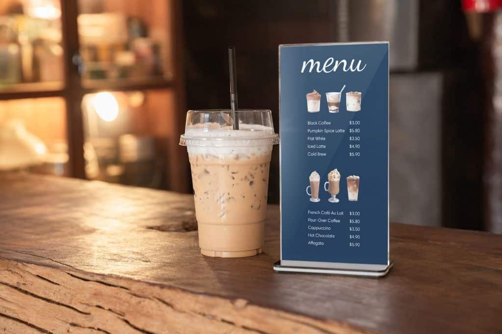 table menu printing