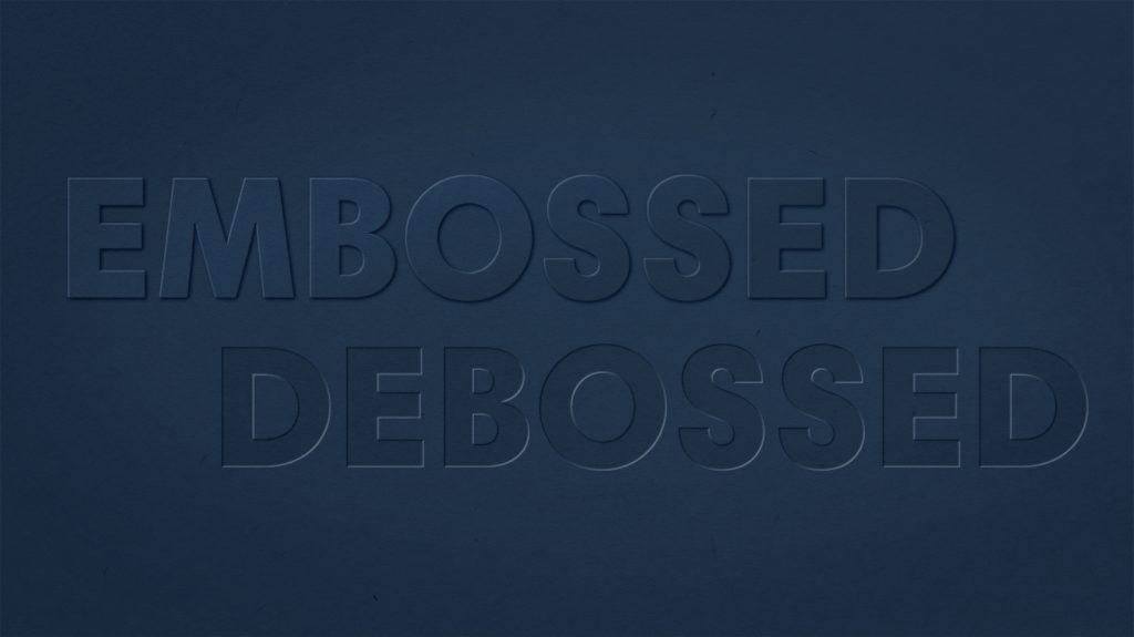 emboss and deboss