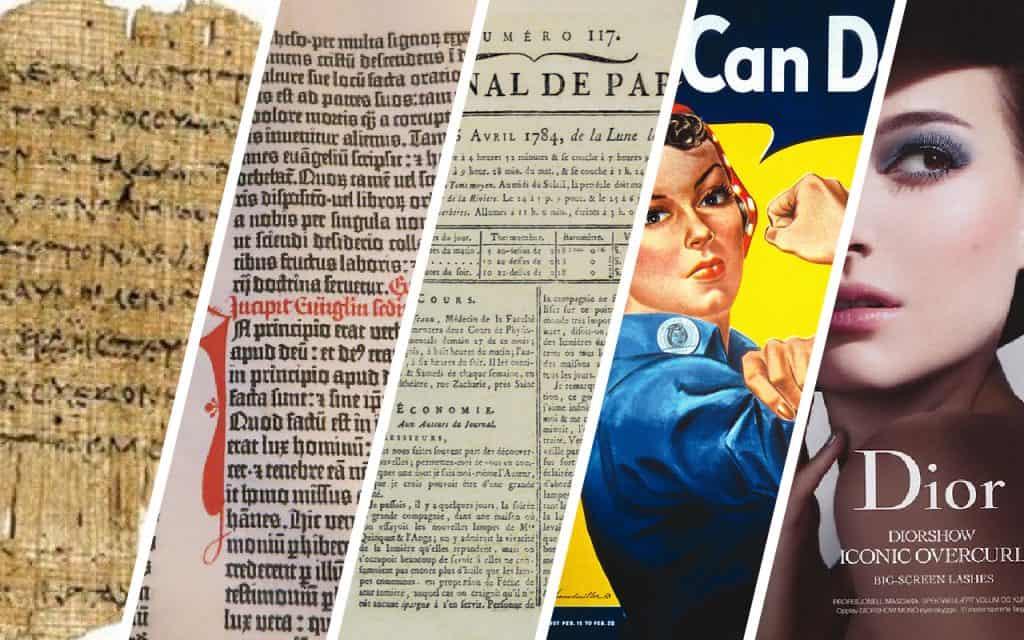 History of print advertising