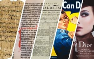 History of print advertising