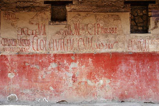 graffiti in Pompeii