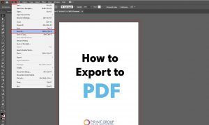 How to export to pdf in Illustrator_1