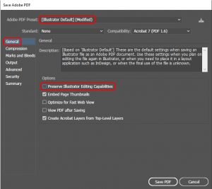 How to export to pdf in Illustrator_3