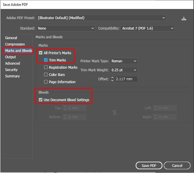 How to export to pdf in Illustrator_5