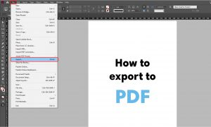 How to export to pdf in InDesign_1