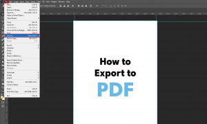 How to export to pdf in Photoshop_1