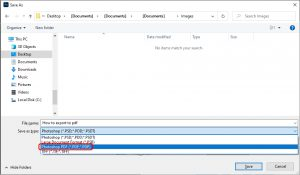 How to export to pdf in Photoshop_2