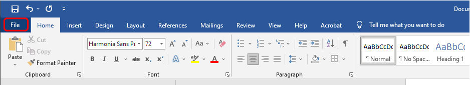 How to export to pdf in Word_1