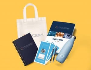 Print products for brand launch