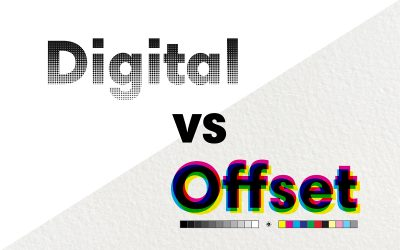 What is the difference between offset and digital printing?